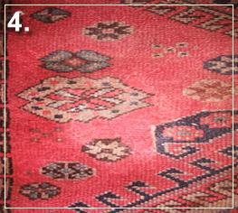 rug repair: rug hole recovery step of repairing - step 4