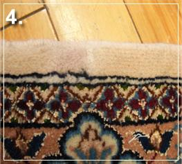 rug repair: reweaving step of rug repairing - step 4